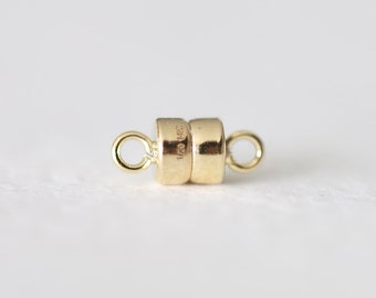 14k Gold Filled Magnet Clasp - 10mm x 4.4mm 14k gf super magnet clasp, jewelry finding, wholesale beads, luxem supply