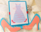 Will you be my bridesmaid, will you be my maid of honor, matron of honor, wedding party invites