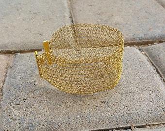 Crocheted wire bracelet