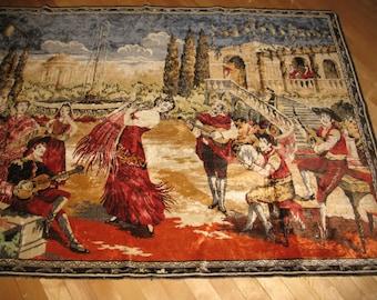 Large wall or floor rug. Velvet, deco, vintage.