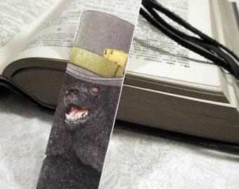 Book mark: Regal Black Poodle, Handmade Bookmarks, Unique Bookmarks