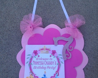 Princess door sign, princess decoration