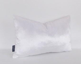 Velvet White Pillow Covers, Decorative Velvet Pillows, Throw Pillows, Lumbar Pillow, All Sizes