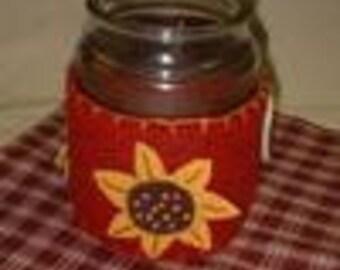 Wool Applique**ePATTERN** Sunflower Candle Wrap