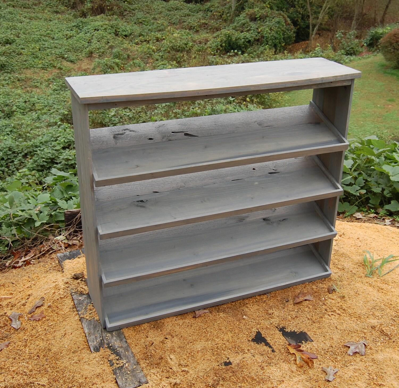 entryway shoe storage table shoe rack organizer reclaimed zoom