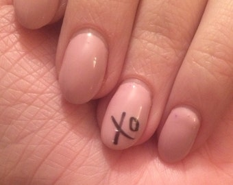 XO or Hugs & Kisses nail decals