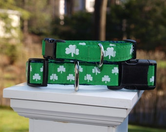 Shamrock Collar / Irish Collar / St Patricks Day Collar / Green Collar /Collar and Leash