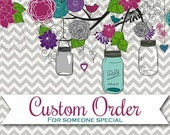 Custom Order for Shari - Wine Tumblers