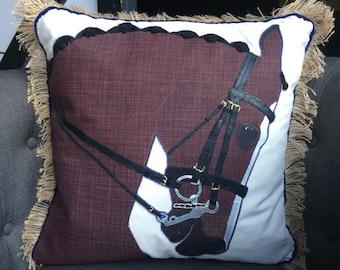 The Dressage Horse Pillow: Custom Equestrian Home Decor