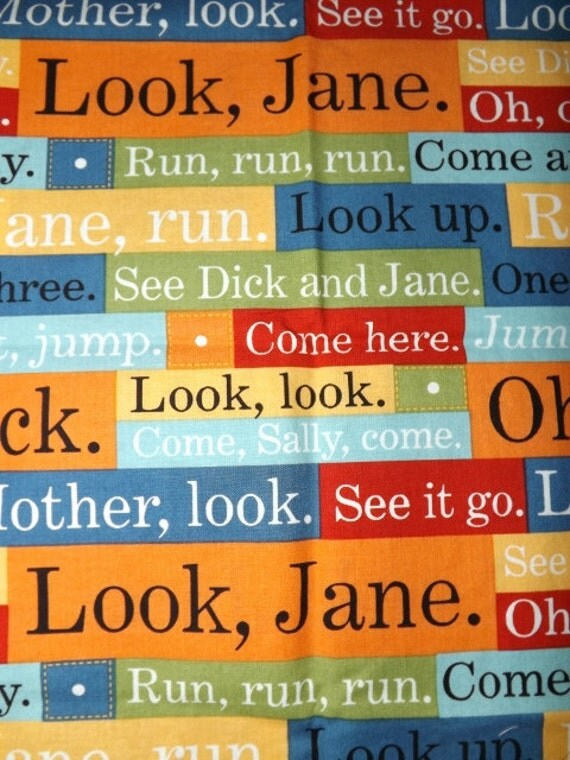 Dick and Jane Michael Miller cotton fabric