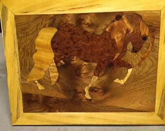 Marquetry Horse