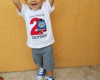 Train Birthday Shirt, Thomas Birthday Shirt, Second Boy Birthday Shirt, Choo Choo Birthday Outfit