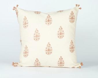 Henna Taupe Decorative Pillow