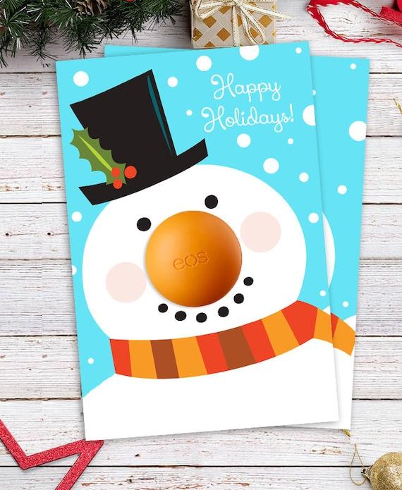 Stocking Fillers Eos Lip Balm Christmas Gift DIY Snowman