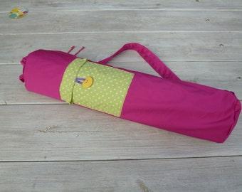 Handmade yoga mat bag, pilates mat bag,