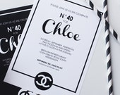Monogram Black and White Printable Party Invitations : Printable Party Designs by The Paper Doll