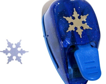 Snowflake Shape (blue) Thumb Paper Punch from EK Success