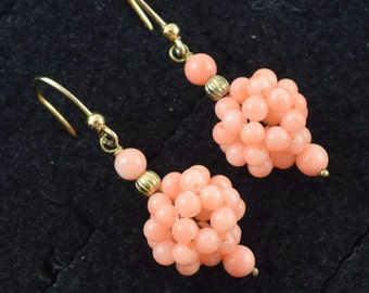 Genuine Coral Earrings Hand Crafted  ~ Lot 9797