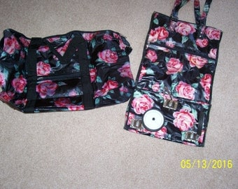 Avon Travel Tote on wheels, 19x12x7, and travel bag, 24x15, both new