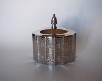 Godinger 1991 Silver Plated Jewelry Trinket Box