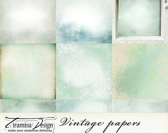 SALE Scrapbook Papers and Digital Paper Pack 26 -Vintage Christmas