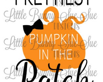 Fall Design, Thanksgiving Design, Halloween, Prettiest Pumpkin SVG PNG DXF Cutting Machine File, Silhouette File, Cricut File, Tshirt Design