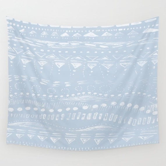 items similar to light blue geometric wall tapestry geometric tapestry blue wall tapestry. Black Bedroom Furniture Sets. Home Design Ideas