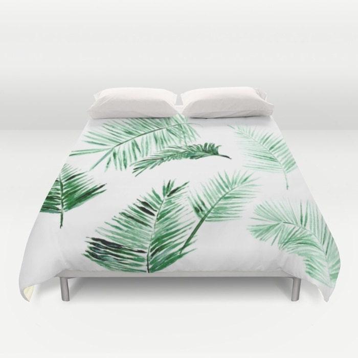 Palmier feuilles housse de couette couverture de lit palm for Housse de couette traduction