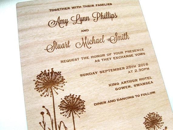 Holzerne hochzeit einladung designideen for Hochzeitseinladung holz