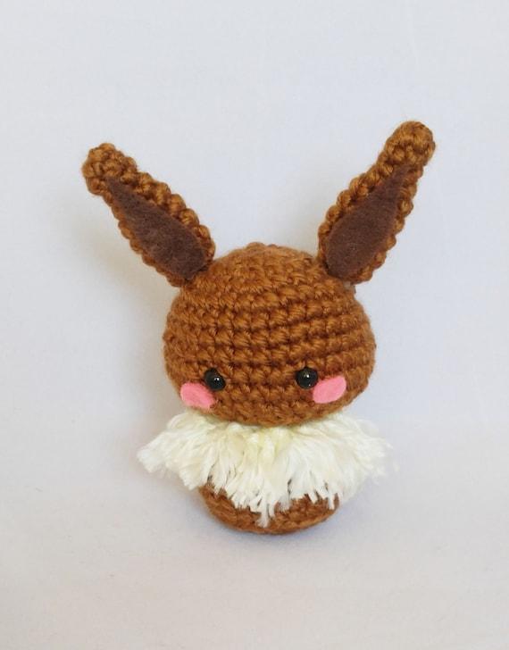 Amigurumi Crochet Pattern Etsy : Amigurumi Eevee Crochet Pokemon Plush