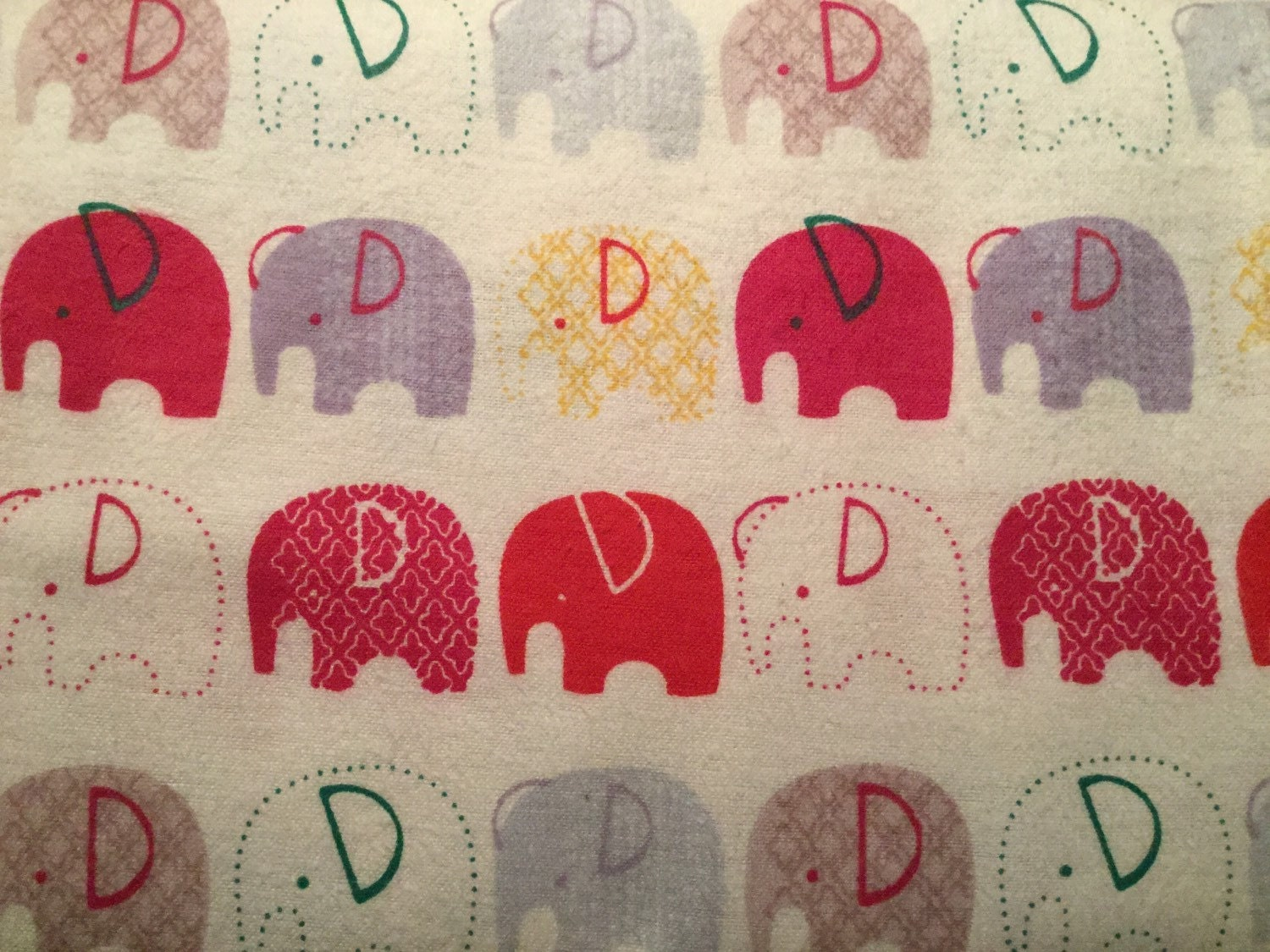 Flannel red elephant fabric red elephant flannel baby for Elephant fabric
