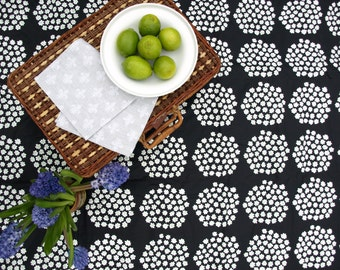 Picnic blanket Marimekko Black white Flower Modern City EXTRA LARGE blanket and Bag Beach blanket Summer Picnic blanket Outside blanket GIFT