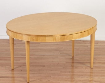 Mid Century Annabelle Seldorf Oval Dining Table