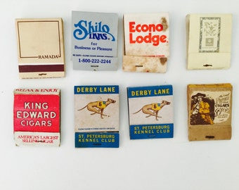 8 Vintage Cool Used Matchbooks