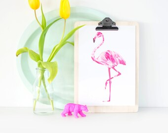 Artprint / mosaic Flamingo