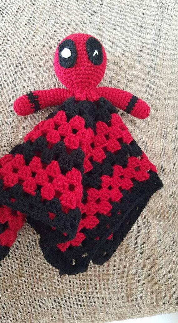 Items similar to Crochet Deadpool Lovey/Security Blanket ...