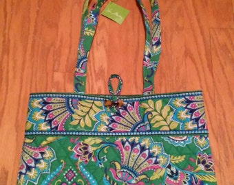 Vera Bradley Emerald Paisley Tote New With Tags FREE SHIPPING!
