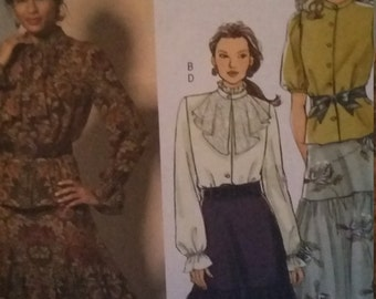 UNCUT and FF Pattern Pieces Vintage Butterick 4850 Sewing Pattern Sizes 16-18-20-22 Top and Skirt