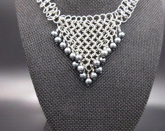 The Black Pearl Chainmaille Necklace