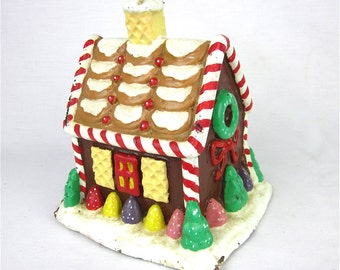 Vintage Oversized Gingerbread House Candle