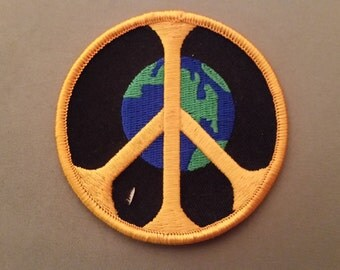 peace earth embroidered patch