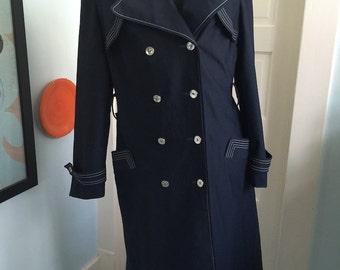 COAT SALE: Vintage YouthCraft Voyager West Women's Overcoat, Travel Coat - 1970s or earlier - Size 6-8
