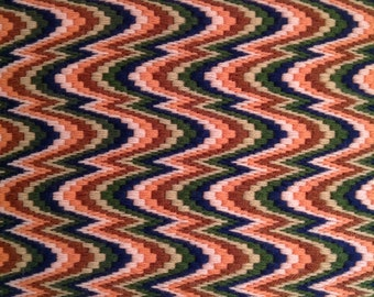 Bargello needlepoint table runner wall hanging fiber art hand-stitched embroidery hand stitched boho chic hippie psychedelic home decor