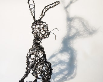 Hare- Rabbit- Wire Hare Sculpture - 'Hare Today'