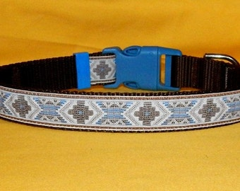 Blue and Brown Southwest collar