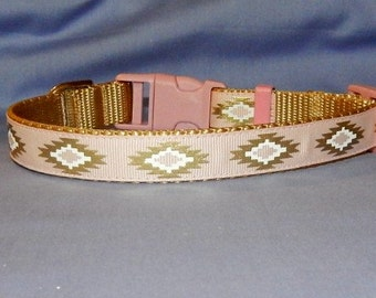 Medium Pink and Gold Southwest collar