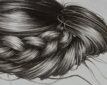 Original A5 Hair Illustration