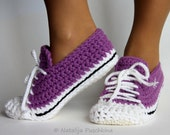 Quick and Easy crochet pattern - home sock /Sport/ Size US 4-14; Size UK 1,5-10.,Sneakers, Slipper,Step by Step, Sneakers DIY,diy