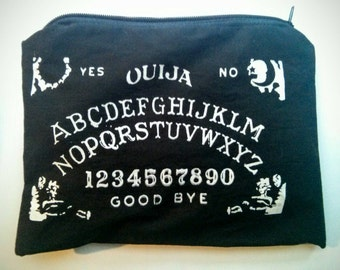 Ouija Board Zippered Accessory Bag | Psychic | Occult | Ghost | Spirit | Make Up Bag | 7.5 x 4.5