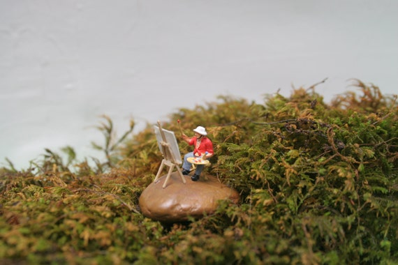 A Perfect Picture Of my Perfect Place... Miniature Artist Painter Creator for Terrariums and More